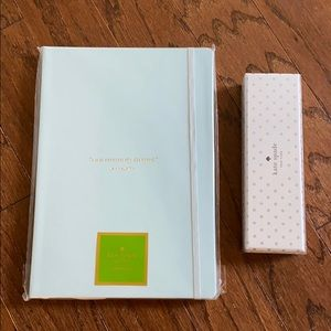 NWT Kate Spade blue journal/notebook and pen set!